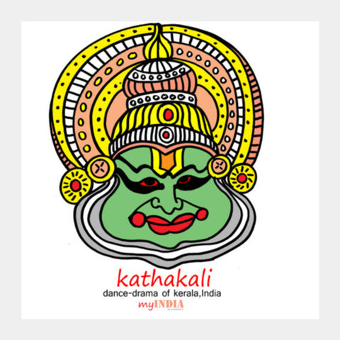Kathakali Square Art Prints PosterGully Specials
