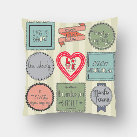 Cushion Covers, Make Life Worth It! Cushion Covers | Artist : Suchita Pande, - PosterGully
