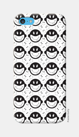 Monkey tongue out on black and white iPhone 5c Cases | Artist : Designerchennai