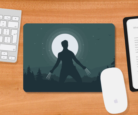 Wolverine in Night Mousepad | Artist : Darshan Gajara's Artwork