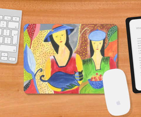 Mousepad, Abstract Girls Mousepad | Artist : Teena Chauhan, - PosterGully