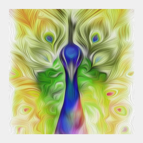 Square Art Prints, The colours in me PEACOCK Square Art | Vidhisha Kedia, - PosterGully