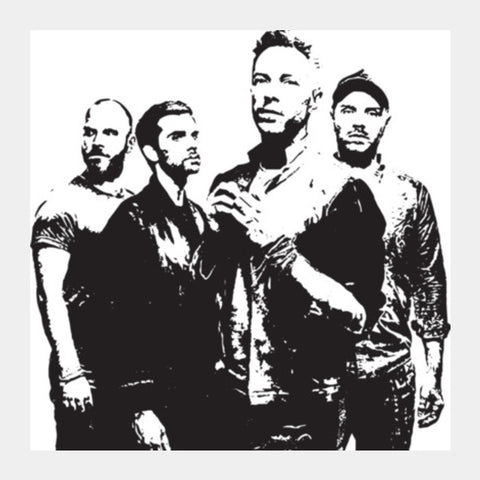 COLDPLAY BAND Square Art Prints | Artist : Kau.Vish
