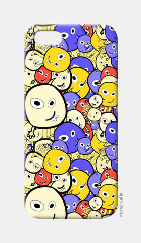 Doodle cartoon characters  iPhone 5 Cases | Artist : Designerchennai