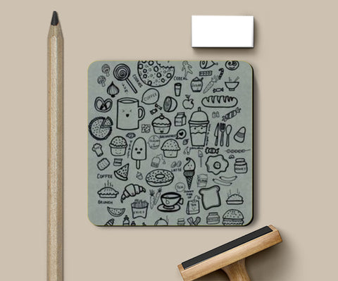 foodaholic Coasters | Artist : The Doodler dentist