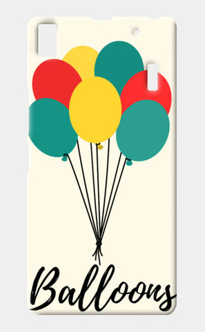 Colorful Balloons Lenovo K3 Note Cases | Artist : Ankita Sharma