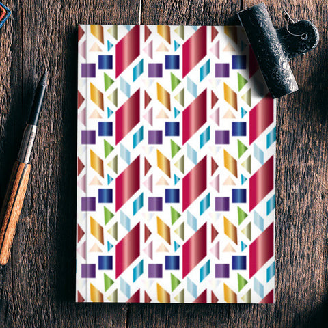 Multicolour Shapes Notebook | Artist : Delusion