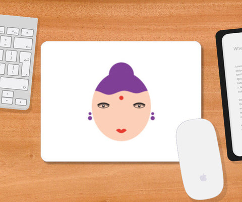 Female Face Art Mousepad | Artist : Mani Selvam