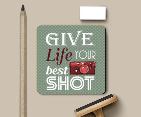 Coasters, Camera Life Quote Coasters | Artist : Mosaik, - PosterGully