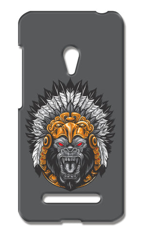 Gorilla Wearing Aztec Headdress Asus Zenfone 5 Cases | Artist : Inderpreet Singh