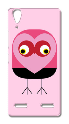 Cute pink bird with heart Lenovo A6000 Cases | Artist : Designerchennai