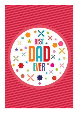 PosterGully Specials, Best dad ever retro typography Wall Art | Artist : Designerchennai, - PosterGully