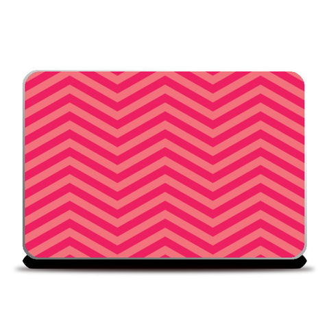 Light Pink and Dark Pink Zig Zag Laptop Skins | Artist : Amantrika Saraogi