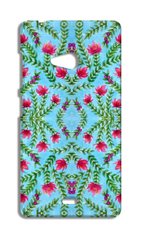 Blue And Pink Traditional Watercolour Floral Pattern Nokia Lumia 540 Cases | Artist : Seema Hooda