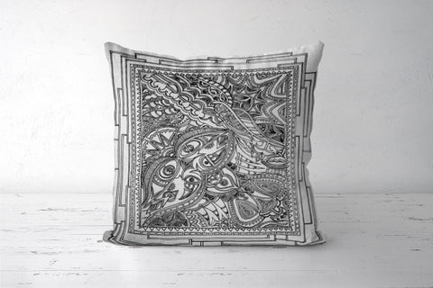 Tile Intricacy Cushion Cover | Artist: Awanika Anand