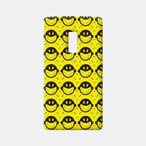 Monkey tongue out on black and yellow One Plus Two Cases | Artist : Designerchennai