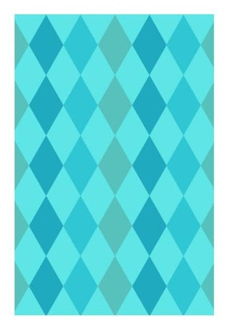 PosterGully Specials, Light blue triangle pattern Wall Art | Artist : Designerchennai, - PosterGully