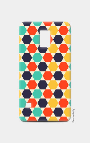 Multi colored repetition shape background Samsung S5 Cases | Artist : Designerchennai