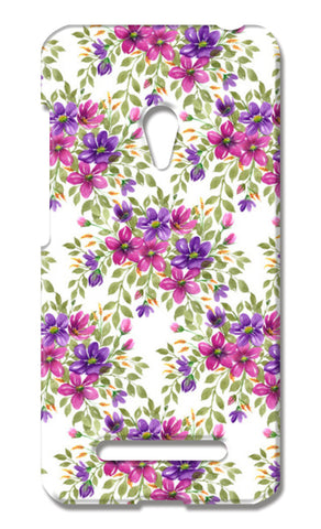 Romantic Pink Purple Blooms Floral Spring Pattern  Asus Zenfone 5 Cases | Artist : Seema Hooda