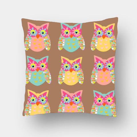Cushion Covers, owls 2 Cushion Cover | Artist: Devina Jain, - PosterGully