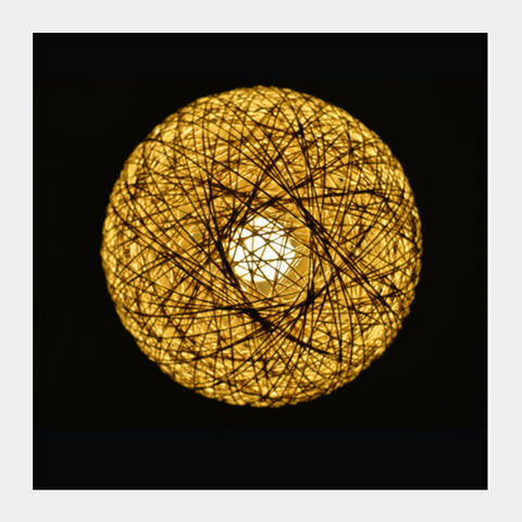 Square Art Prints, Yellow Lamp Square Art Prints | Artist : Shashanka Beshra, - PosterGully
