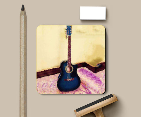 Coasters, Abstract Acoustic Guitar Coasters | Artist : Champa Guchait, - PosterGully