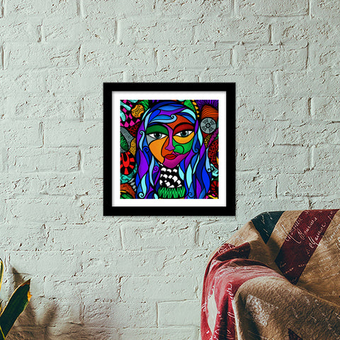 Free Spirit Premium Square Italian Wooden Frames | Artist : Animal kingdom