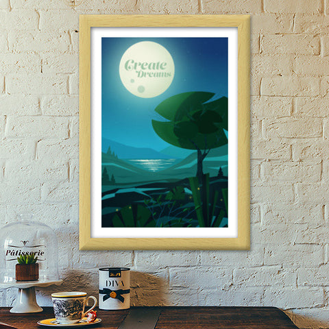 Dream Land Premium Italian Wooden Frames | Artist : Sumon Bose