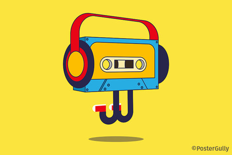 Cassette PopArt Peppy Artwork