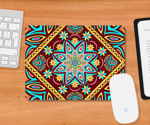 Mousepad, Colourful Mandala Mousepad | Artist : Madhumita Mukherjee, - PosterGully