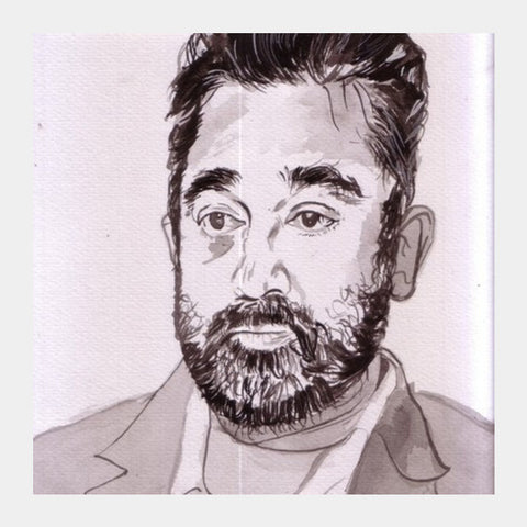 Kamal Hassan Is A Versatile Actor Square Art Prints PosterGully Specials