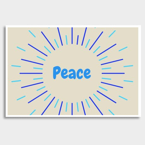 PEACE Giant Poster | Artist : Pallavi Rawal