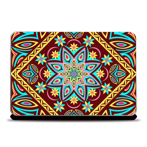 Laptop Skins, Colourful Mandala Laptop Skins | Artist : Madhumita Mukherjee, - PosterGully