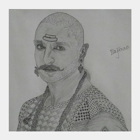 Square Art Prints, Ranveer singh from Bajirao mastani square art prints Square Art Prints | Artist : Gaurav sahu, - PosterGully