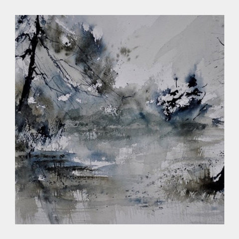 watercolor 413052 Square Art Prints | Artist : pol ledent