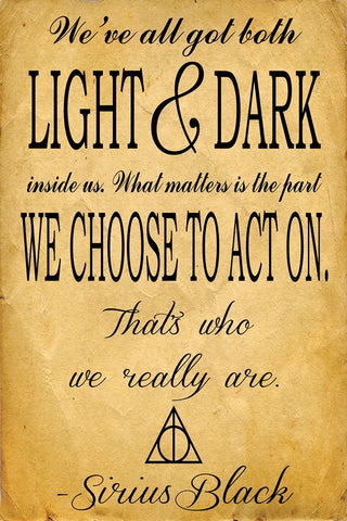 Harry Potter Sirius Quote  Art PosterGully Specials