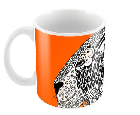 Majestic Lion Print Coffee Mugs | Artist : Nalin Singh