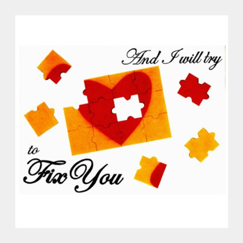 Square Art Prints, Fix You- Coldplay Square Art Prints | Artist : Gursimran Kaur, - PosterGully