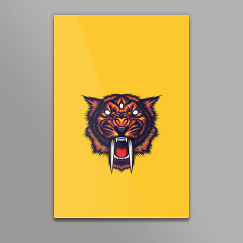 Saber Tooth Metal Prints | Artist : Inderpreet Singh