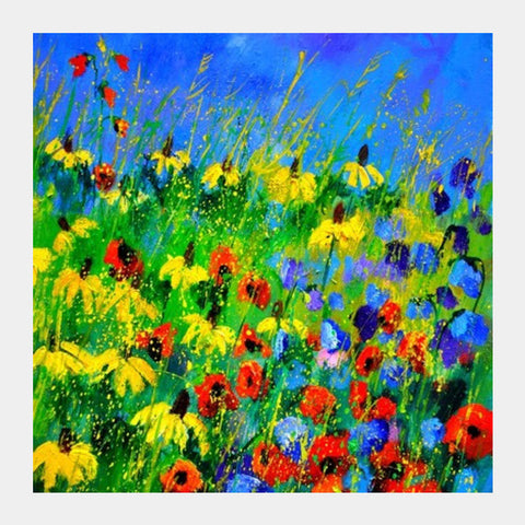 Poppies And Rudbeckias Square Art Prints PosterGully Specials