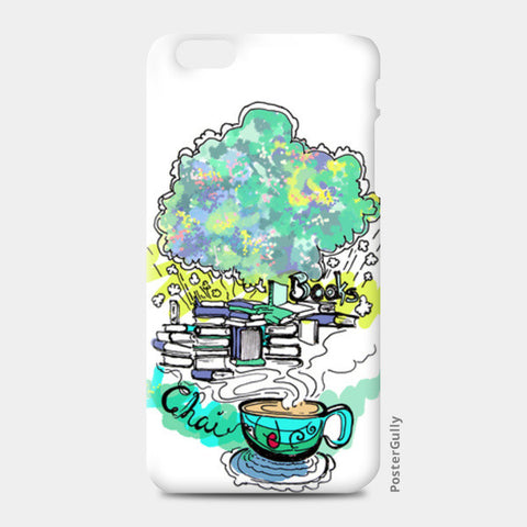 iPhone 6 Plus / 6s Plus Cases, Books and Chai iPhone 6 Plus / 6s Plus Cases | Artist : Poornima Kumar, - PosterGully