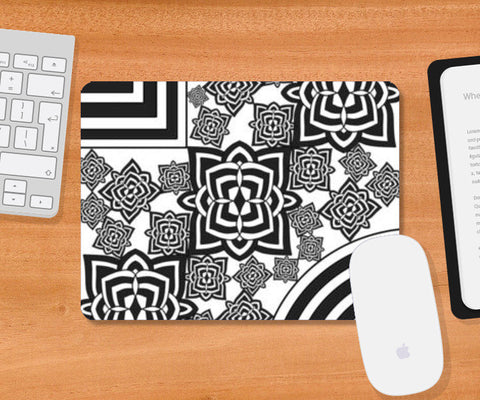 Black & White Patterns Mousepad | Artist : Pratyasha Nithin