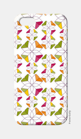 Flowers Retro Shapes Geometric Pattern On Multicolor iPhone 5 Cases | Artist : Designerchennai