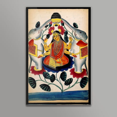 Lakshmi purified by two elephants Metal Prints | Artist : Scatterred Partikles