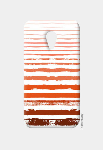 Uneven Orange Stripes Moto G2 Cases | Artist : Amantrika Saraogi