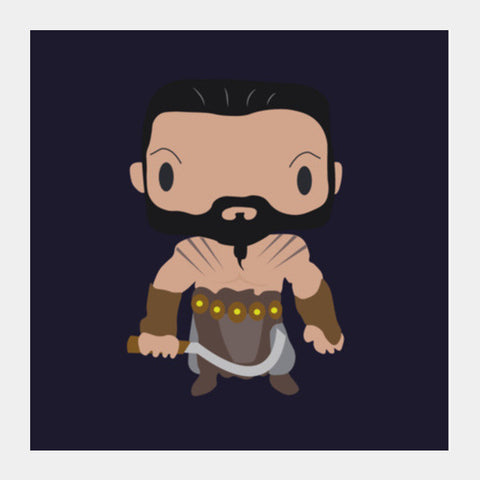 Khal Drogo Games of Throne Funny Square Art Prints | Artist : Aniket Kamal