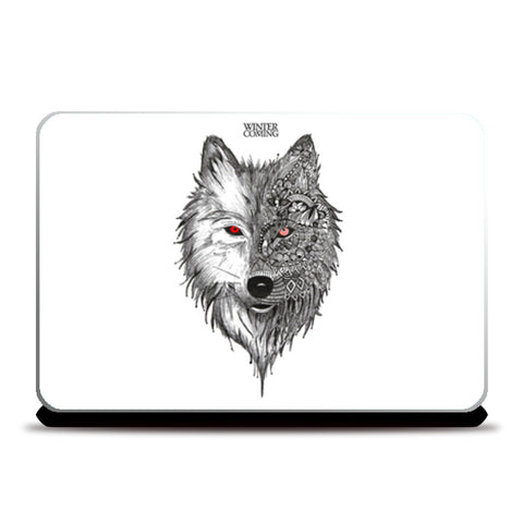 Game Of Thrones | Winter is Coming | Wolf Laptop Skins | Artist : Pragya Bhandari