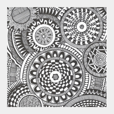 Prints in Circles Square Art Prints | Artist : Aniket Mitra