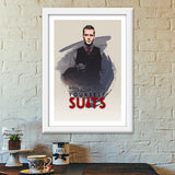 Suits | Harvey Specter | Quote Premium Italian Wooden Frames | Artist : Vivid Corner
