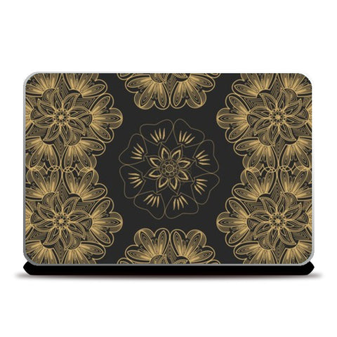 Golden Flower Laptop Skins | Artist : Tiny Dots